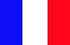 die Farben der französischen Flagge