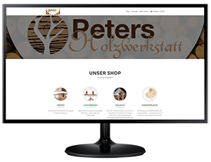 professionelle Website mit Shop