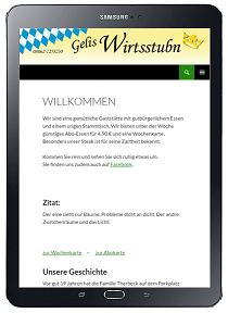 einfache Wordpress Website