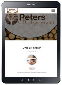 professionelle Website mit Shop